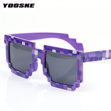 YOOSKE Thug Life Glasses 8 bit Pixel Women Men Sunglasses Female Male Mosaic Sun Glasses kids