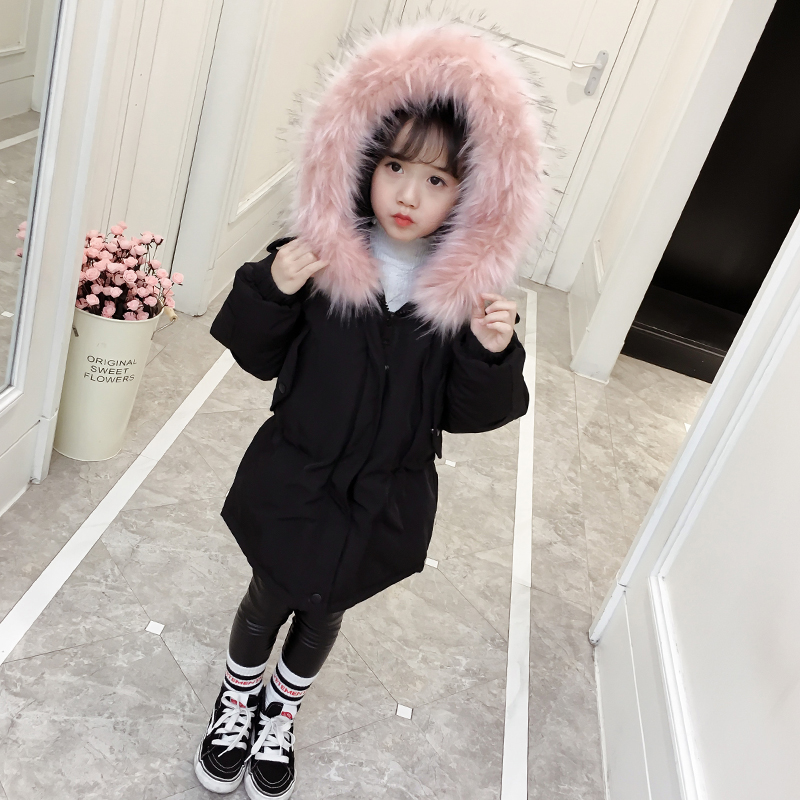 2018 Children Winter Coat Girls Cotton Warm Jacket Cotton-padded Jackets Girls Clothes Jacket Park for Girl Fashion Casual Coat fashion cotton jacket coat for men army green l
