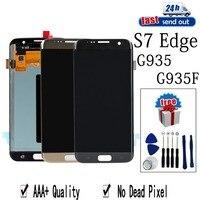Активно матричные осид, G935F ЖК дисплей для SAMSUNG Galaxy S7 край G935 ЖК дисплей Дисплей сенсорный экран протестированый дигитайзер в сборе