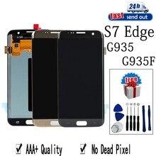 AMOLED LCD untuk Samsung Galaxy S7 Edge G935 LCD Display G935F Layar Sentuh Diuji Rakitan Digitizer