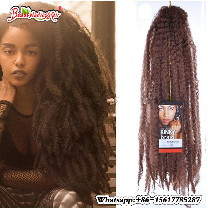 Free Shipping 16 Inches Synthetic Marley Braids Hair Extensions 100g
