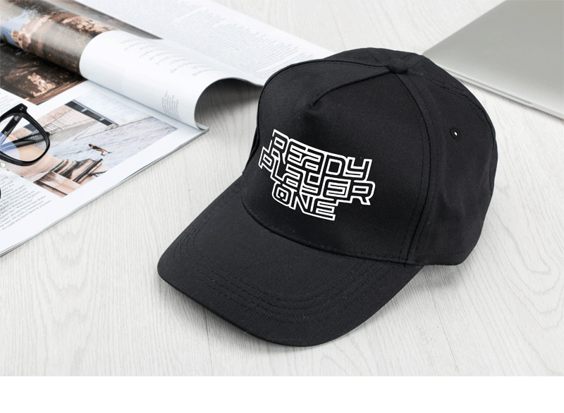 Ready Player One Printed Adjustable Black Hat Cosplay Baseball Cap