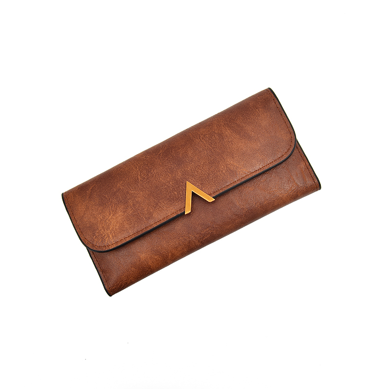 2019 Vintage Women Wallets And Purses Long Leather Hasp Ladies Wallet With V Letter Credit Card Holder Zipper Clutch For Girls