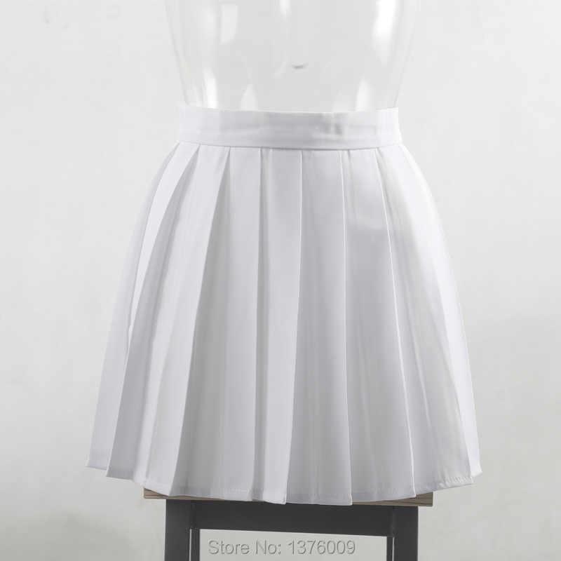 ddc780041 ... falda plisada faldas verano Blancas Faldas Plisadas Verano Falda de  Uniforme De La Escuela Secundaria Femenina ...