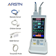 3.5 Tft Lcd 1 Of 3 Sensoren Volwassen Kinderen Neonate SpO2 + Pr + Temp Handpulsoximeter Pulsioximetro Hart rater Monitor