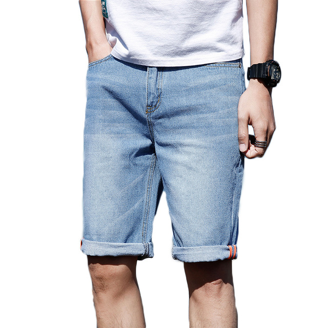 57712f3caa6f 2018 New Casual Mens Shorts Blue Jeans Pant Male Fashion Summer Men Clothes  Hip Hop Regular Fit Cotton Boys Jeans Shorts Man