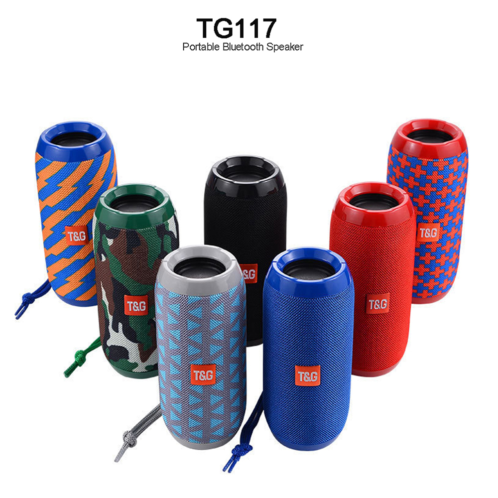 Hifi Portable Column Speaker Waterproof Bluetooth Speaker Outdoor Bicycle Subwoofer Bass Wireless Boom Box Loudspeaker FM TF