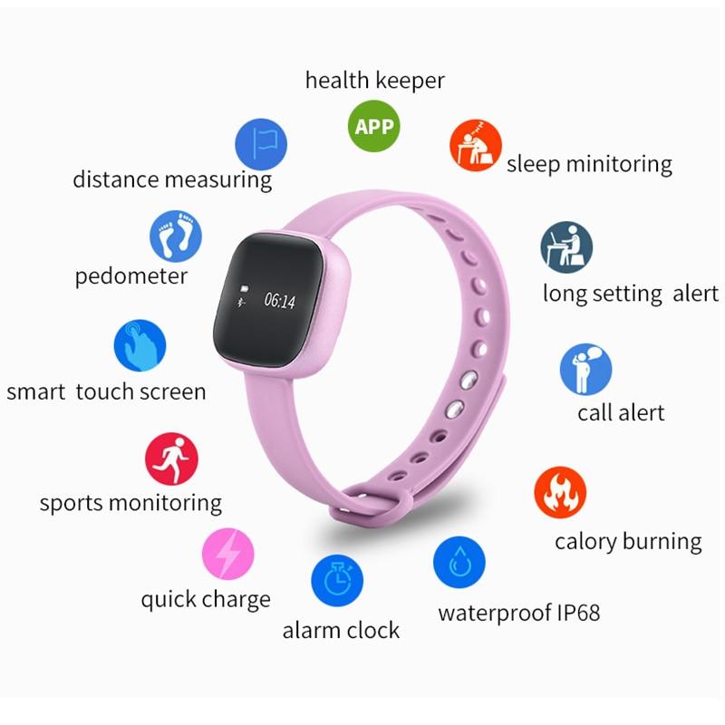 2018 TOP WATCH Fashion Waterproof Smart Bracelet Women's Favorite Health Tracking Steps Message Reminder message reminder smart bracelet waterproof smart bracelet - title=