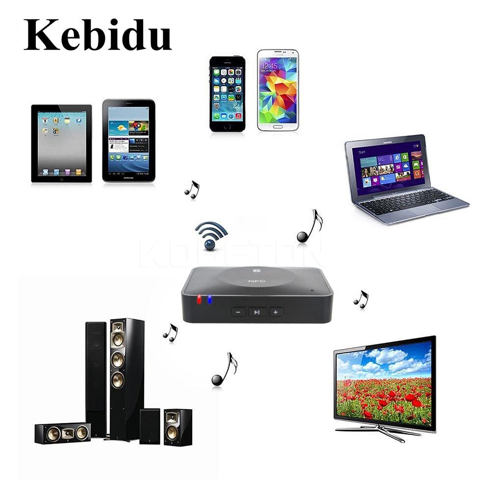 Aufrichtig Kebidu 3,5mm Rca Stereo Ausgangs Nfc Bluetooth Audiomusik-empfänger-adapter Für Sound System Für Tabletten Pc Moblie Handys Unterhaltungselektronik