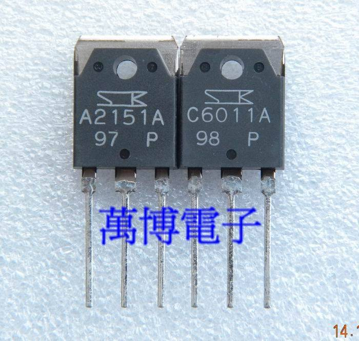 2018 Hot Sale 10pair/30pair Sanken 2SA2151 2SC6011 2SA2151/2SC6011(2SA215 Audio Electronics Free Shipping