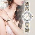 Cmk mujeres marca de relojes de lujo de cerámica relojes de moda banda de las señoras Oro rosa Reloj de Pulsera de Cuarzo Horas s Feminino 2017 4 color