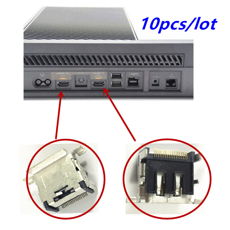 10pcs lot Original For XBOX ONE Console HDMI Display Port Socket Jack HD Interface Connector For