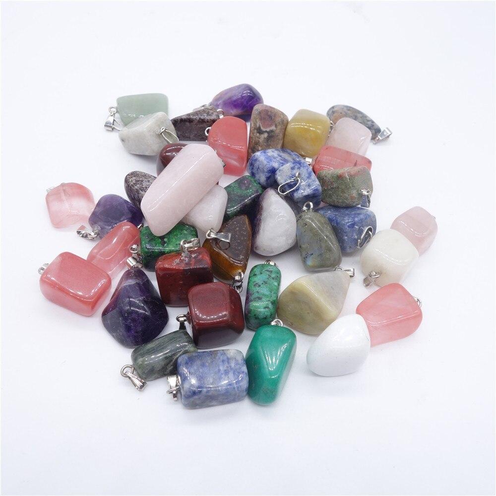 Point Natural Stone Crystal Cornelian Irregular Shape Charms Pendants Necklace Jewelry Suspension Cheap Wholesale 12pcs/lot
