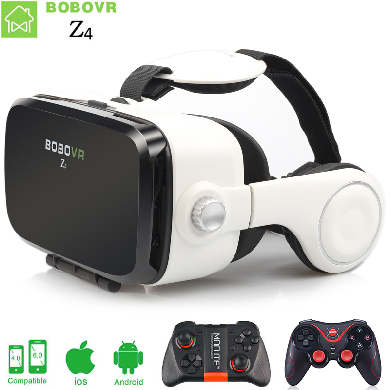 BOBOVR Z4 VR box 2.0 Virtual reality goggles 3D glasses VR Google cardboard bobo vr z4 headphone for 4.3-6.0 inch mobile phone vr glasses 3d glasses vr headset box virtual joystick for phone virtual reality glasses for iphone google cardboard galaxy s9