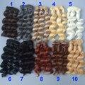 15 см вьющиеся волосы парики для куклы коричневый черный цвет Волос Натуральный Цвет плетеные Парики для BJD Куклы