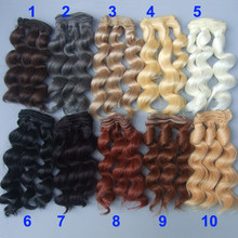 15cm curly wigs hair for doll brown black color Hair Natural Color braided Wigs for BJD Doll(China)