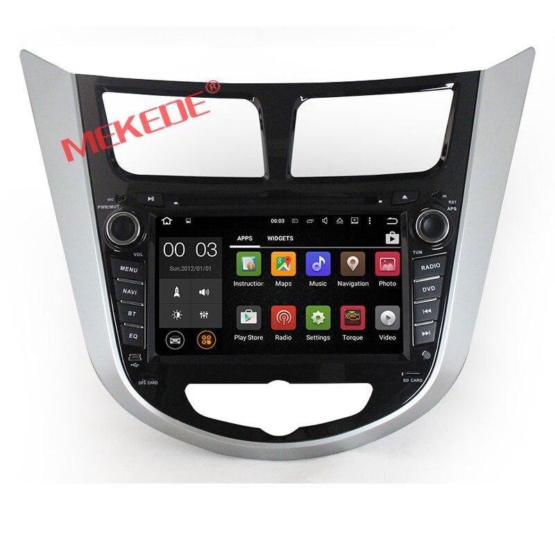 7 pollici Auto Autoradio player per Hyundai Verna Accent Solaris 2011-2012 con Android 7.1 Quad-core sistemi trasporto libero