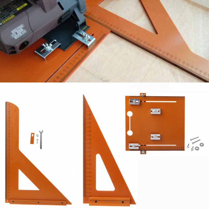 Electric Circular Saw Cutting Machine Guide Foot Ruler Triangle Protractor Tool Ruler 90 Right Angle Horizontal Bead Woodworking