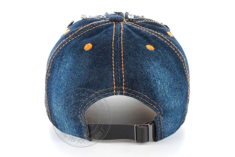 Высокое качество оптом и в розницу JoyMay шляпа Кепки Мода Досуг Стразы винтажные джинсы хлопок джинсовые кепки Бейсбол Кепки B225
