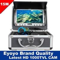 Free Shipping! Eyoyo 15M Underwater Fish Finder Fishing HD 1000TVL Video Camera 7 Sun shield Sunvisor