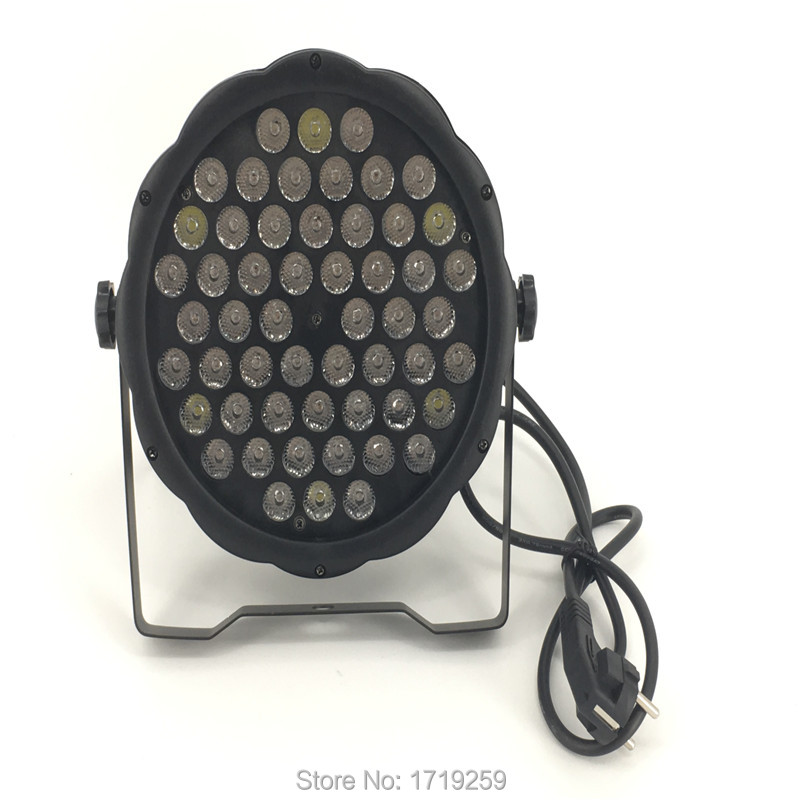 ФОТО 4 pcs/lot CREE 54x3W RGBW LED Stage Light LED Flat SlimPar With DMX512 Flat DJ Equipments Controller Fast Shipping