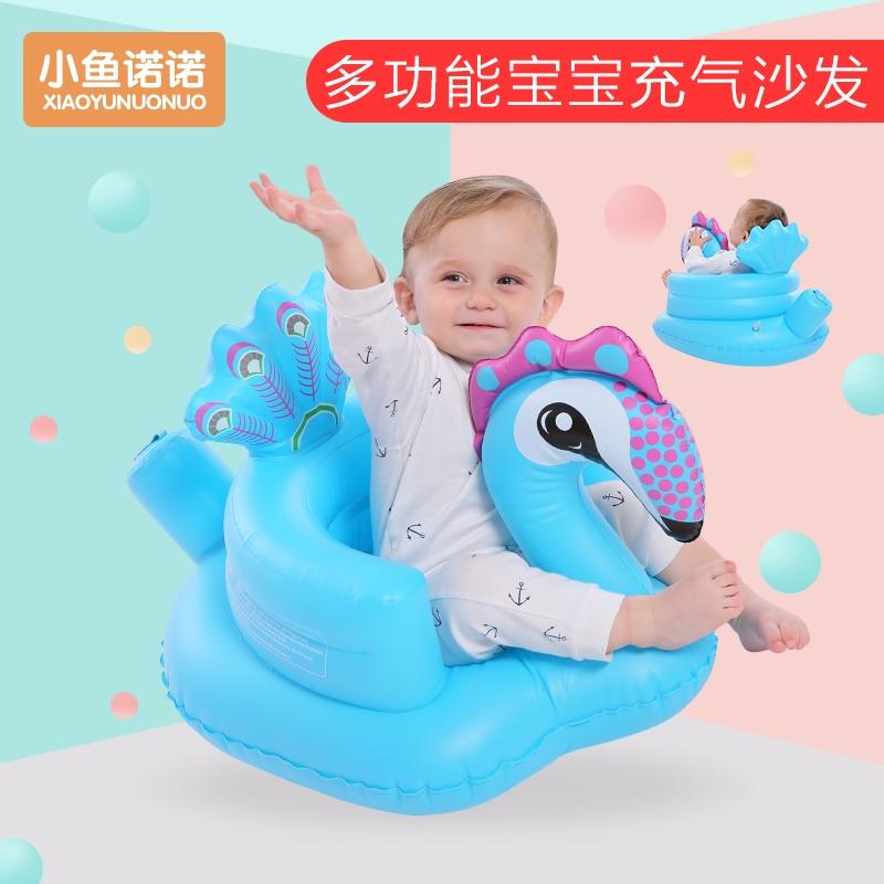 Videurs gonflables de chaise d'apprentissage de bébé de sofa, sauteurs BB anti-fal dinant la chaise petit sofa portatif de bébé - 2
