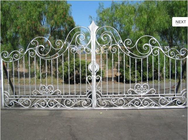 Hench 100% Handmade Forged Custom Designs Automatic Iron Gate