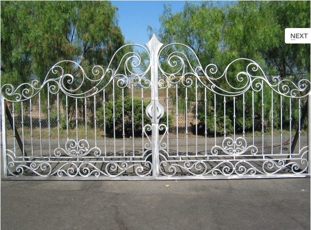 Double Iron Gates Antique Wrought Iron Gates Automatic Iron Gate