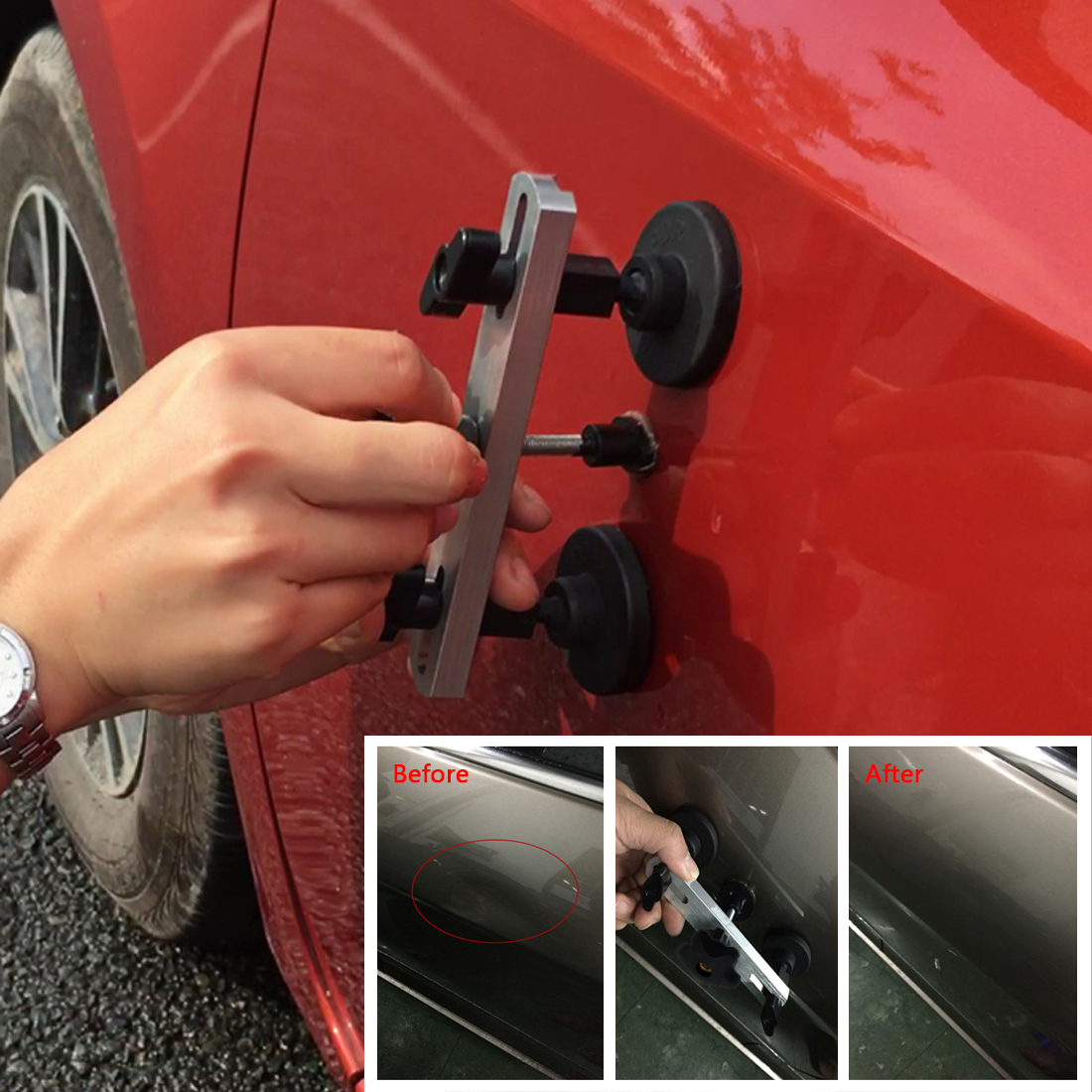 Paintless Auto Car Dent Repair 9pc Tool Kit