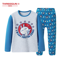 Pajamas Sets Tuski Cartoon For Boys Girls Nightwear Winter Warm Long Sleeve Cotton Underwear Kids Children Sleepwear Pajama Suit