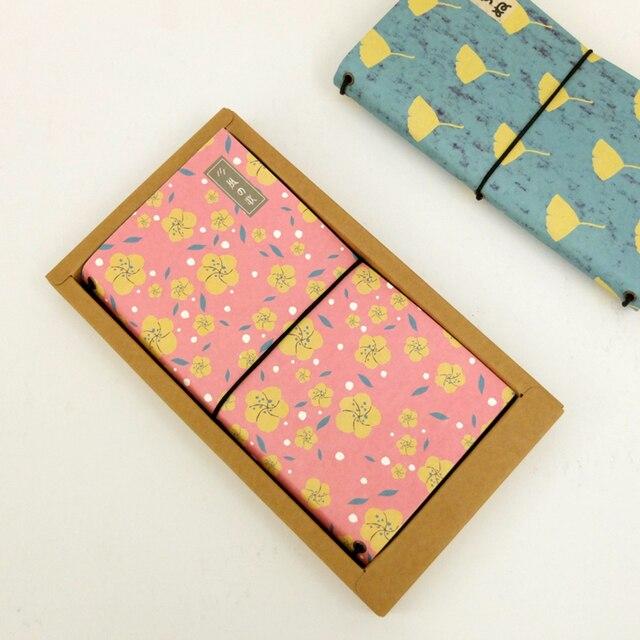 Notebook Midori Viajante do Tamanho Padrão Do Vintage Notebook Handy Projeto 210mm X 110mm 64 Folhas