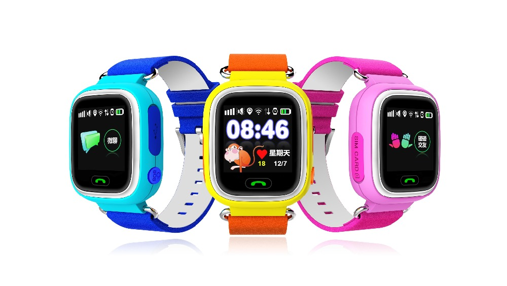 Newest Multicolor Touch Screen GPS Smart Watch Wristwatch SOS Location Finder Lo