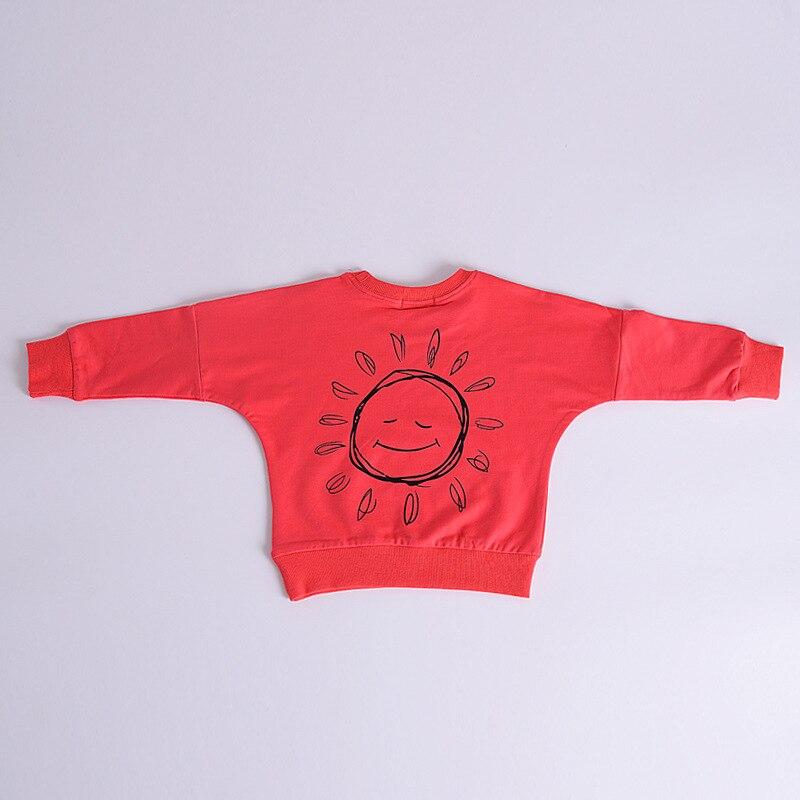 2018 Red Shirt Little Girl Clothes Girls Tops Long Sleeve Top Girls Long Sleeve Tshirts Kids T Shirt Kids Clothes Sun Print