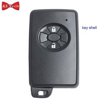 Keyecu Black Color 2 Button Replacement Remote Key Case Smart Key Shell  Cover Box for Toyota
