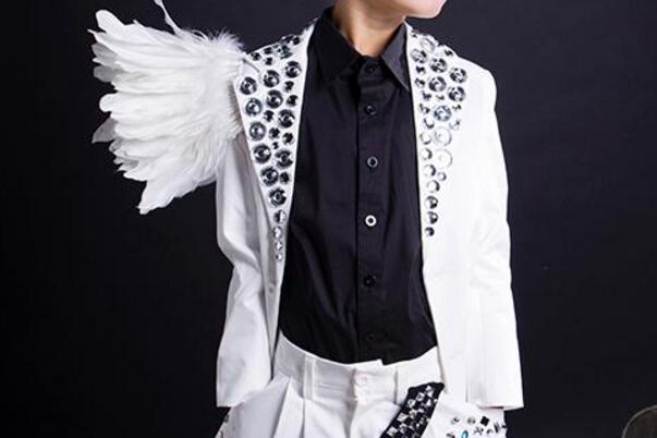 D'hôtes Accueil Chaude Costumes S 2019 Verre Printemps Blanc Étape Chanteur De Mode Nouvelle Hommes 4xl Forage zU8qR