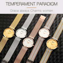 Women Watches Luxury Ultra Thin Rose Gold Watch Triomphe Mesh Brand Minimalist Lady Watch For Women Golden Clock Hour Gifts