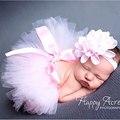 2016 Alta Qualidade Nova Vinda Do Bebê Menina Acessórios Fotografia 10 Modelos Opcional Pneu Flor Meninas Vestido de Algodão Material
