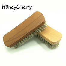 The Hair Brush Polished Shoes Clogs Beech Oil Fur Leather With Soft Scrub Horse hair shoes brush