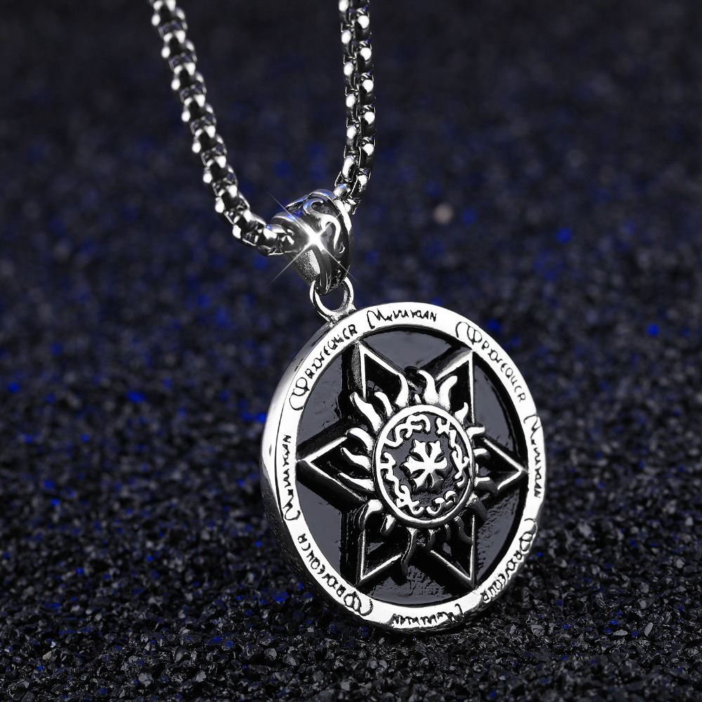 Hot Sale Punk Gold Stainless Steel Geometry Design Vintage Star of David  Pendant Hexagram Necklaces For Men Jewelry Party Gift -in Pendant Necklaces  from ... 56d2e5bad570