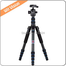 Carbon Fiber Photographic Tripod Stand Portable Flexible Monopod With 360 Degree Ball head and Carry bag For Photo and Video