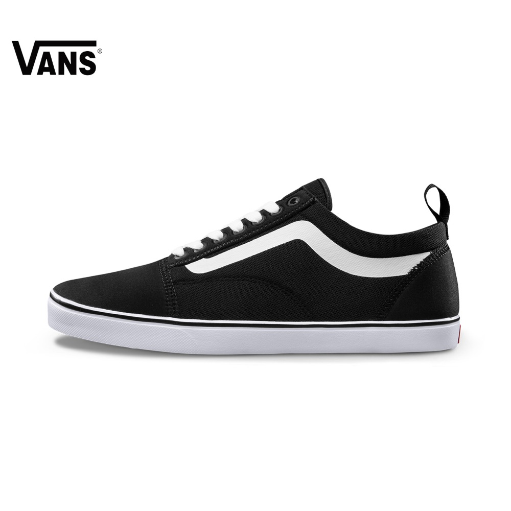 Original  Vans New Arrival Black and White Color Low-Top Men's Skateboarding Shoes Sport Shoes Sneakers free shipping original vans white color women skateboarding shoes sneakers beach shoes canvas shoes free shipping