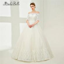 Modabelle Elegant Wedding Dress Lace Sleeve Robe Ball Gown