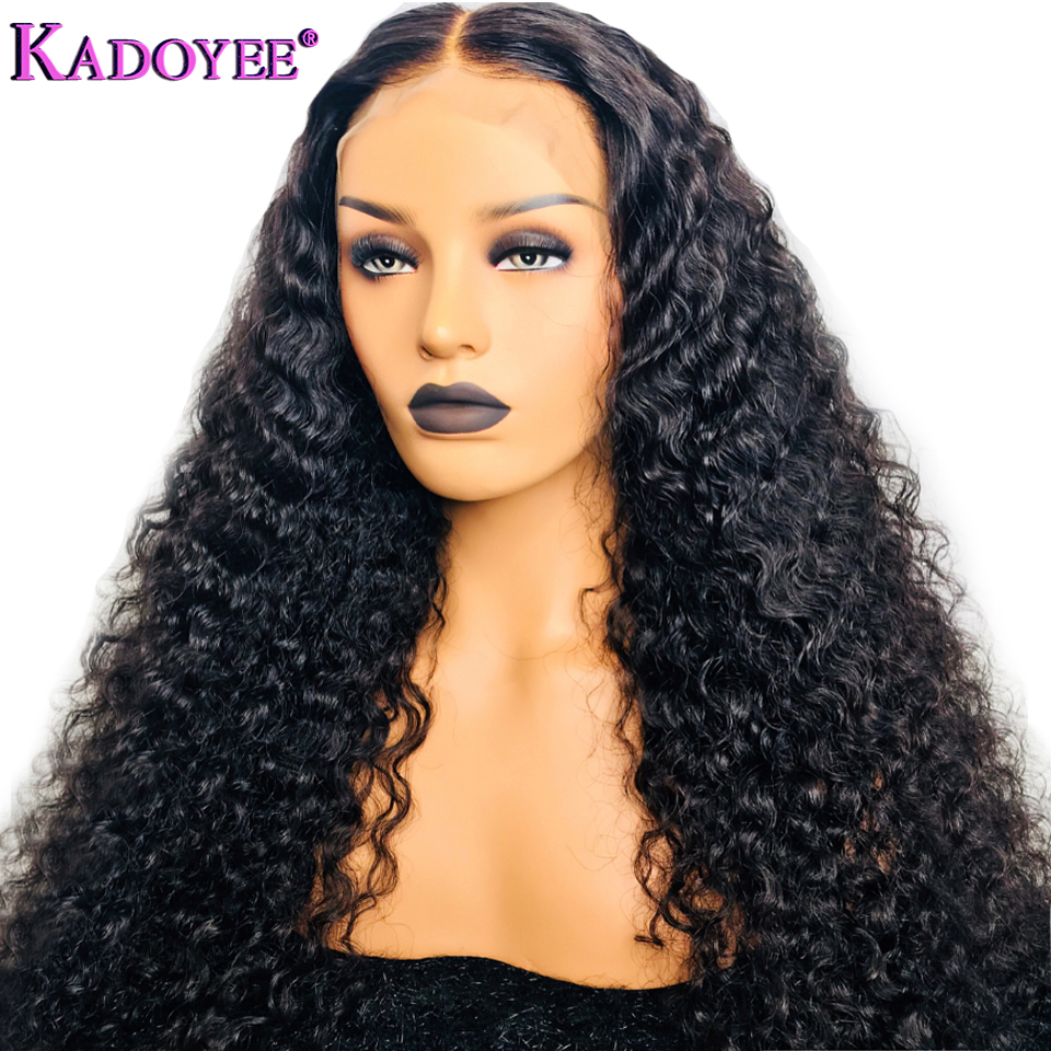 13x6 Deep Part Pre Plucked Curly Lace Front 100 Human Hair Wigs With Baby Hair For