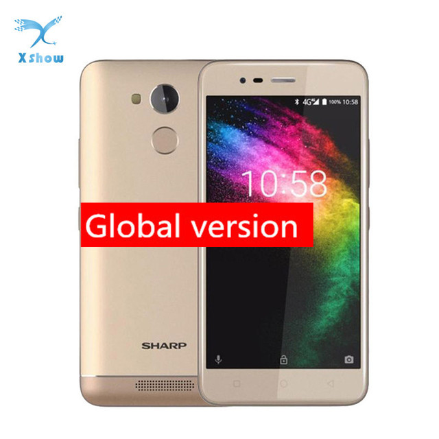 Sharp R1 MT6737 Quad Core Mobile Phone 5.2 Inch 1280x720P 16:9 ratio Smartphone 4000mAh 3GB RAM 32GB ROM Android Cellphone