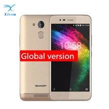 Telefone móvel do núcleo do quadrilátero de r1 mt6737 afiado 5.2 Polegada 1280x720 p relação 16:9 smartphone 4000 mah 3 gb ram 32 gb rom android celular