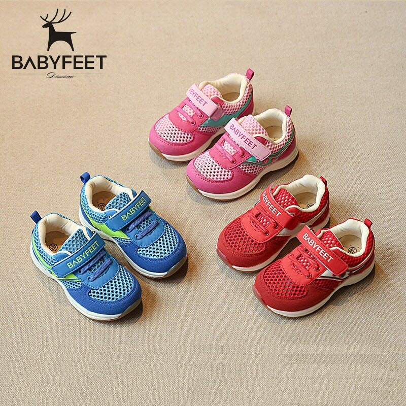 Babyfeet Children shoes Little girls shoes toddler shoes baby boys Sneakers casual non - slip sports shoes breathable size 26-30 children s shoes boys and girls ultralight casual sports shoes children fashion sneakers mesh fabric breathable travel shoes