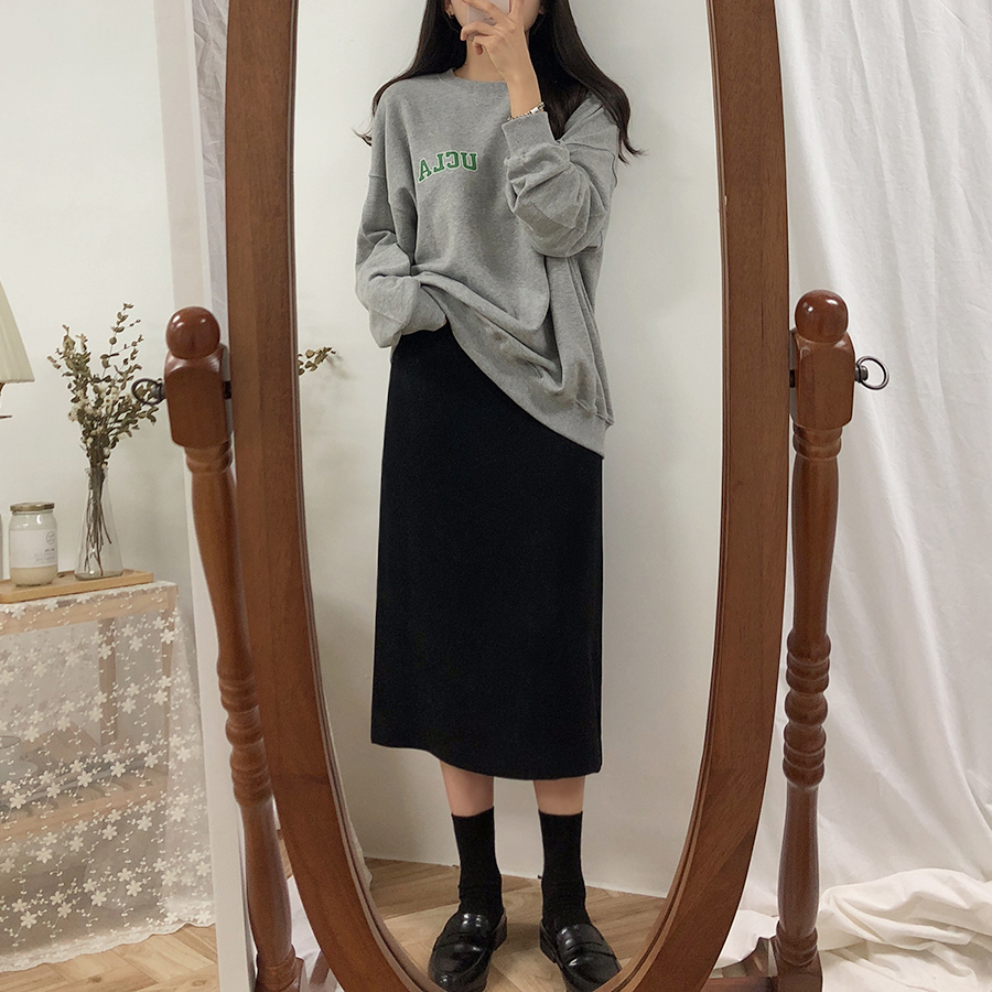 HTB1B T2Xs vK1Rjy0Foq6xIxVXaz - Solid Black Brown Mid Calf Women Skirt Vintage Spring Summer Straight Skirt Long Office Lady High Waist Girls skirts Femininas
