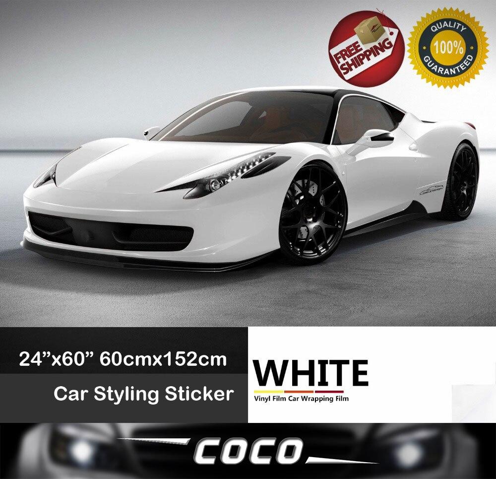 Car sticker design for white car - Matte Matt White Vinyl Wrap Self Adhesive Air Release Bubble Free Car
