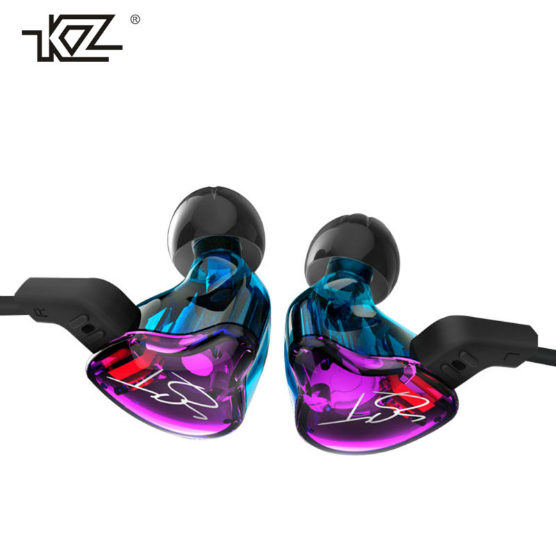 KZ ZST Hybrid Technology Headphone Stereo Hifi Earphone For Mobile Phone In Ear Heavy Bass Double Unit Drive Headset for iPhone original xiaomi xiomi mi hybrid earphone 1more design in ear multi unit piston headset hifi for smart mobile phone fon de ouvido