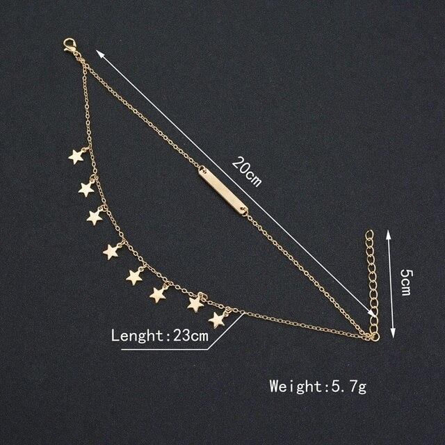 MissCyCy Boho Style Star Anklet Fashion Multilayer Foot Chain Ankle Bracelet 4